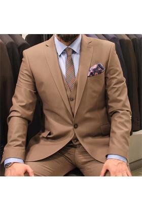 Victor Baron Yelekli Slim Fit Takım Elbise