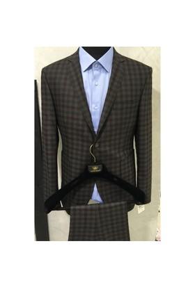 Victor Baron Kareli Kişlik Takım Elbise