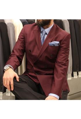 Victor Baron Ekoseli Kruvaze Takım Elbise