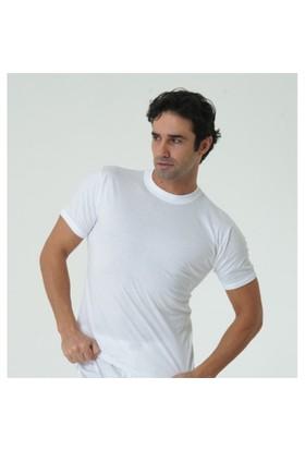 Özlem 6'Lı Paket Kolu Bantlı Sıfır Yaka Erkek Fanila Beyaz