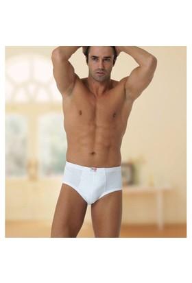 Özlem 3'Lü Paket Erkek Slip Külot Beyaz