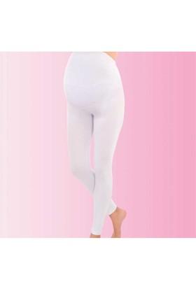 İmer Premium Modal Hamile Uzun Tayt Beyaz