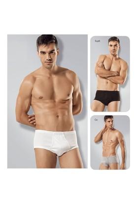 Tutku 6'Lı Paket Erkek Slip Külot Beyaz