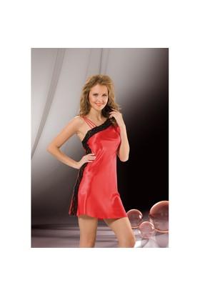 Jasmin Kırmızı Tek Omuzlu Sexy Gecelik