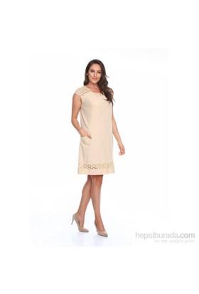 Zer Otantik Cepli Güpürlü Elbise