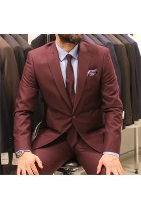Victor Baron Düz Renk Slim Fit Takım Elbise