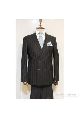 Victor Baron Yeni Sezon Kruvaze Takim Elbise Siyah