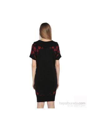 Karahasans Kırmızı Yazılı Kazak Elbise