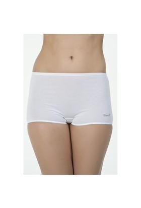 Kom Basic Short Beyaz