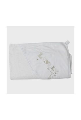 Zeyland Kız Çocuk Beyaz Havlu - K-61H2608