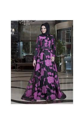 Happy Organze Abiye Elbise - Fuşya - Lâl By Hilal