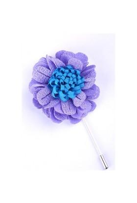 La Pescara Lila-Mavi Özel Tasarım Yaka Çiçeği Yc0083
