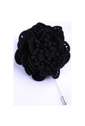 La Pescara Siyah Özel Tasarım Yaka Çiçeği Yc0071