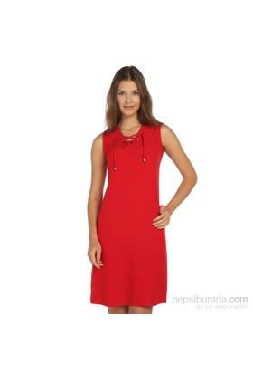 Lir Büyük Beden Kırmızı Elbise
