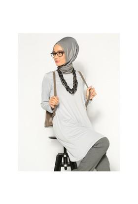 Basic Tunik- Gri - Everday Basic