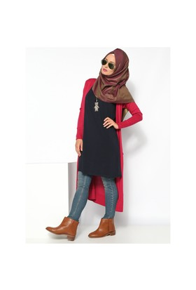 Kolsuz Tunik - Lacivert - Everyday Basic