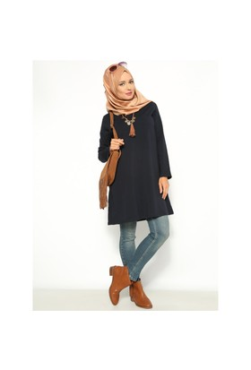 Basic Tunik- Lacivert - Everyday Basic