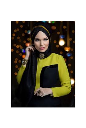 Queen Püsküllü Şal - Si·Yah - Muslima Wear