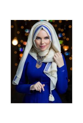Queen Püsküllü Şal - Ekru - Muslima Wear
