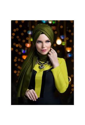 Queen Püsküllü Şal - Haki· Yeşi·L - Muslima Wear