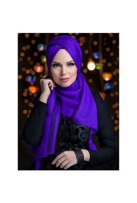 Queen Püsküllü Şal - Mor - Muslima Wear