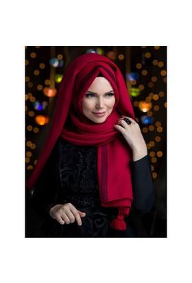 Queen Püsküllü Şal - Gül Kirmizisi - Muslima Wear