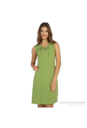 Lir Büyük Beden Yeşil Elbise