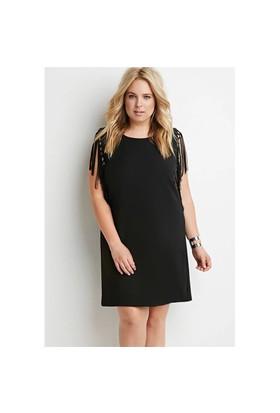 Melisita Lula Büyük Beden Siyah Elbise
