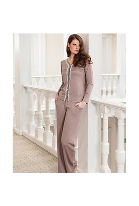 Berrak 5396 Bayan Pijama Takım Vizon