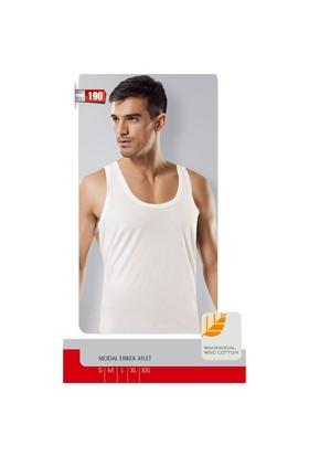 Namaldı 3'Lü Paket Erkek Modal Beyaz Atlet