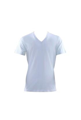 Blackspade Aura Erkek V-Yaka T-Shirt 9508 Beyaz