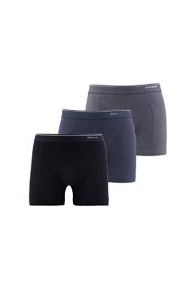 Blackspade Tender Cotton Erkek Boxer 3lü Paket 9673 Siyah-Antrasit-Antrasit Melanj