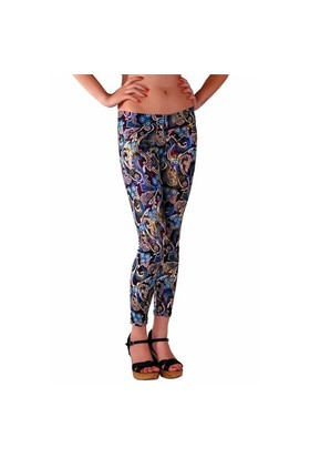 Redhotbest Paisley Pattern Fashion Tight - Şal Desenli Tayt
