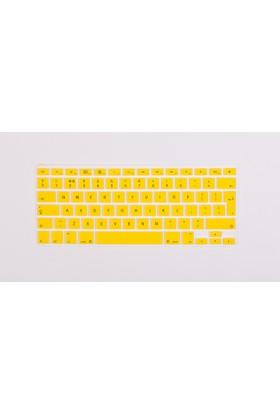 """Macstorey Apple Macbook Pro Retina Air Q Klavye Koruyucu Kapağı Silikonlu Kılıf UK İngilizce 13"""" 15"""" 17"""" 339"""