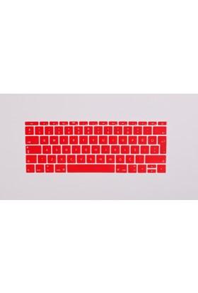 Macstorey Apple Yeni Macbook Pro A1708 13 A1534 12 Q Klavye Koruyucu Kapağı Silikonlu Kılıf Türkçe Baskı TR 359