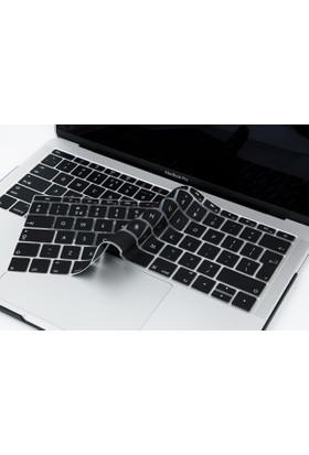 Macstorey Apple Yeni Macbook Pro A1708 13 A1534 12 Q Klavye Koruyucu Kapağı Silikonlu Kılıf UK İngilizce 364