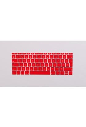 Macstorey Apple Yeni Macbook Pro A1708 13 A1534 12 Q Klavye Koruyucu Kapağı Silikonlu Kılıf UK İngilizce 363