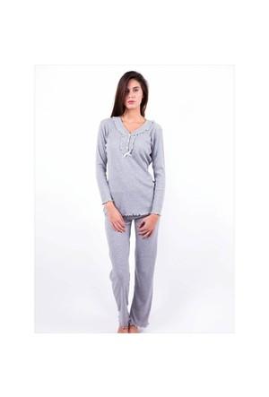 Ayyıldız 59466 Gri Pijama Takımı Gri