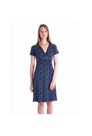 Ayyıldız 59479 Lacivert Puantiyeli Elbise