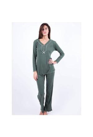 Ayyıldız 59466 Haki Pijama Takımı Haki-1