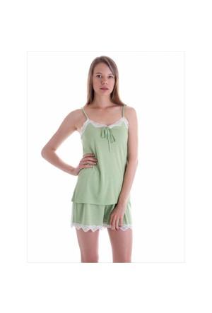 Ayyıldız 59463 Yeşil Puantiyeli Şortlu Takım Açık Yeşil