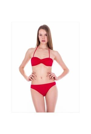 Ayyıldız 40216 Kırmızı Straplez Bikini Kırmızı-1
