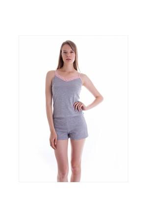 Ayyıldız 59253 Gri Şortlu Pijama Takımı Gri