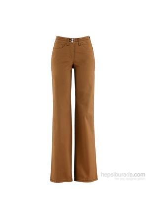 bonprix Kahverengi Streç Pantolon 34-54 Beden
