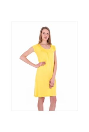Ayyıldız 59333 Sarı Penye Elbise