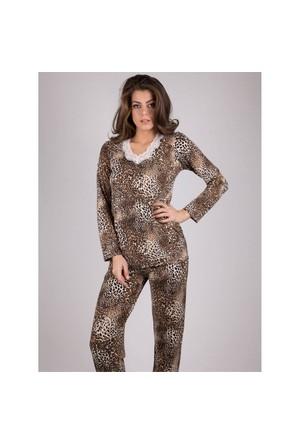 Ayyıldız 59449 Leoparlı Pijama Takımı
