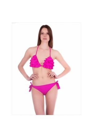 Ayyıldız 40690 Fuşya Püsküllü Bikini