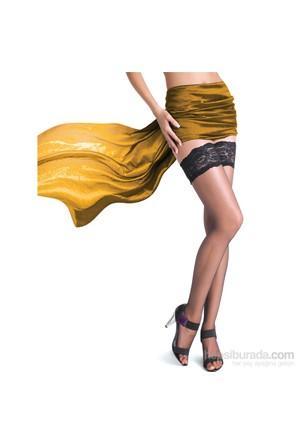Pierre Cardin Dantelli Silikonlu Jartiyer Çorap Venüs Kadın Siyah