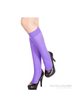 Pierre Cardin Desenli Dizaltı Çorap Arleta Lila