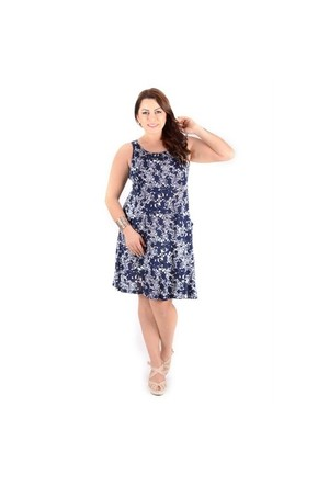 Tepa Lacivert Desenli Cepli Elbise 01000960